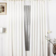Solid Pure White Living Room Blackout Polyester Curtains