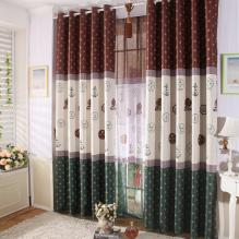 Special Designed Solid Multi-colors Curtains with Patterns