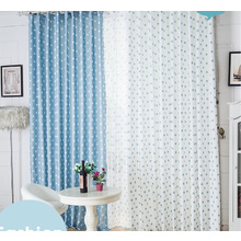 Special Polka Dots Printing Blue and White Ready Made Curtains