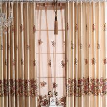 Special Price Floral Printing Living Room Curtains in Ivory