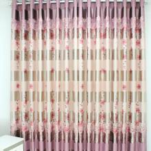 Spring feeling 2013 polyester floral printed pink curtains