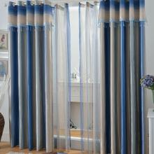 Stunning Yarn Poly and Cotton Blended Curtains in Blue