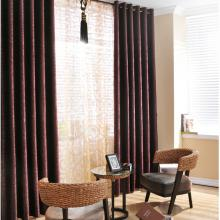 Stylish Blackout and Eco-friendly Flocking Curtains Made of Poly