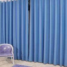 Stylish Draped Thermal Blue Solid Curtains