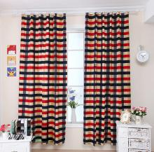 Stylish Edinburgh Striped Thicken Cotton Children Room Curtain