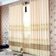 Stylish Polyester and Silk Floral and Geometrical Curtains with Embroidery