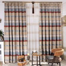 Stylish Striped Chenille Cotton Eco-friendly and Blackout Curtains