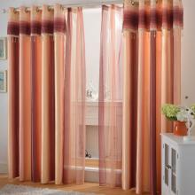 Sunset Scenery Living Room Draped Yarn Blending Curtains