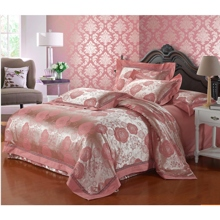 Sweet Floral Jacquard 4-piece Pink  Bed-in-a-bag with Sheet Set