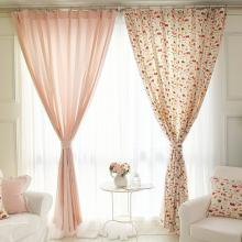 Sweet Pink Cartoon Cotton Decoration Printed Curtains