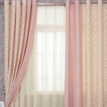 Sweet Pink Floral and Plaid Cotton Bedroom Curtains for Girls