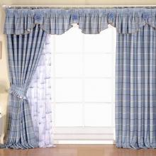 Sweet Striped Lace Cotton and Yarn Living Room Curtains