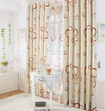 Timeless Polka Dots Polyester Energy Saving Curtains for Living Room