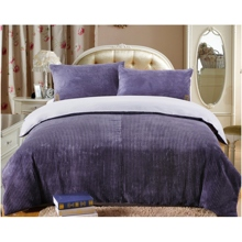 Warm Blue 4-piece Cotton and Corduroy Bed-in-a-bag