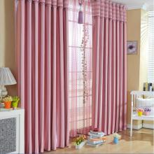 Well Made Pink Yarn and Poly Blended Blackout Curtains