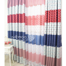 White And Blue Nautical Blackout Cute Chic Modern Curtains