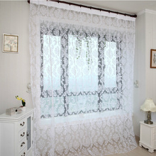 White Cheap Sheer Curtains for Living Room and Bedroom