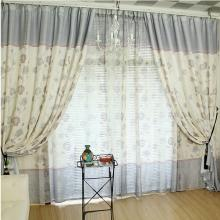 Yarn Blending Botanical Printed Cotton Curtains in Multi-colors