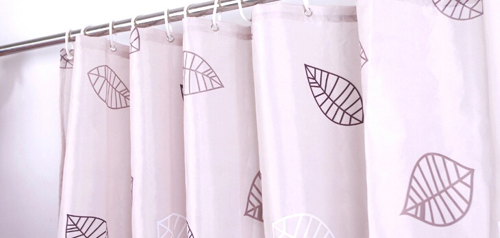 Clearance Leaf Purple Shower Curtain in Bathroom Usage, Buy Purple ...
