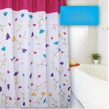 Floral Design Chic White and Pink Shower Curtain