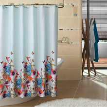 Discount Waterproof Flower Patterns Natural Shower Curtain