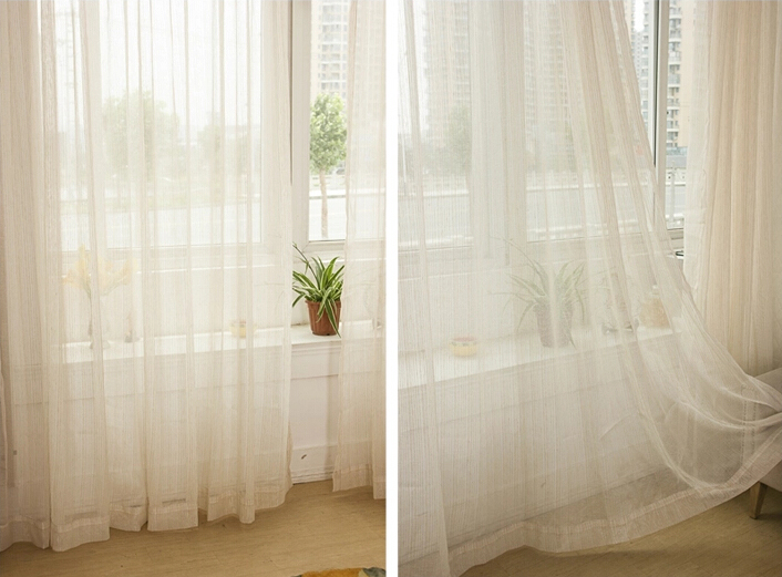 Sheer Curtains beige sheer curtains : Linee tende trasparenti beige per la decorazione domestica ...