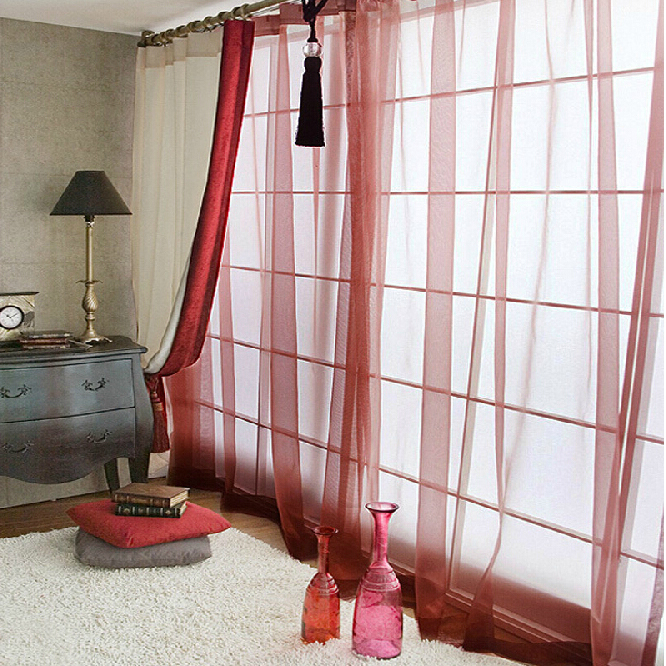 loading zoom inexpensive burgundy sheer curtains