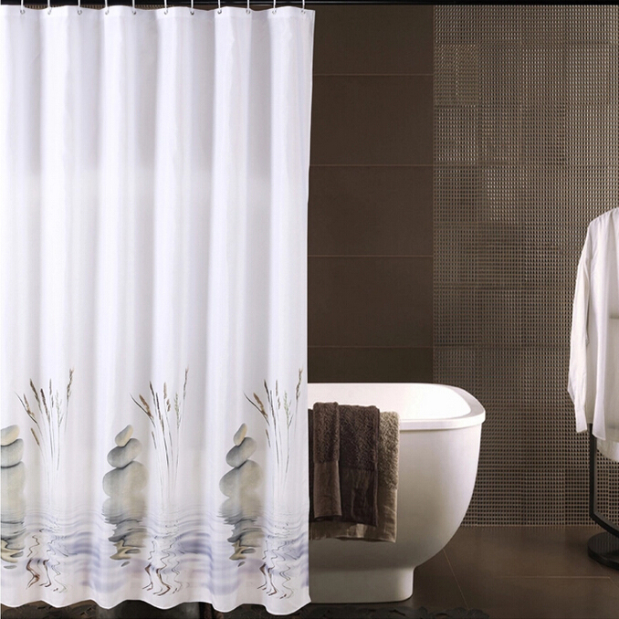 Nature Shower Curtains casual rocks pattern waterproof nature shower curtains, buy white