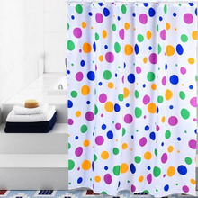 Fancy Polka Dots Colorful Great Long Shower Curtains