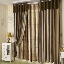 Affordable Striped Eco-friendly Cool Window Curtains