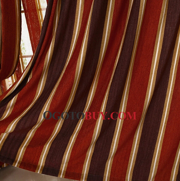 ... Discount Chenille Striped Window Curtains Clearance ...