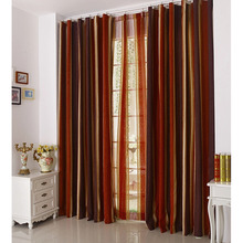 Discount Chenille Striped Window Curtains Clearance