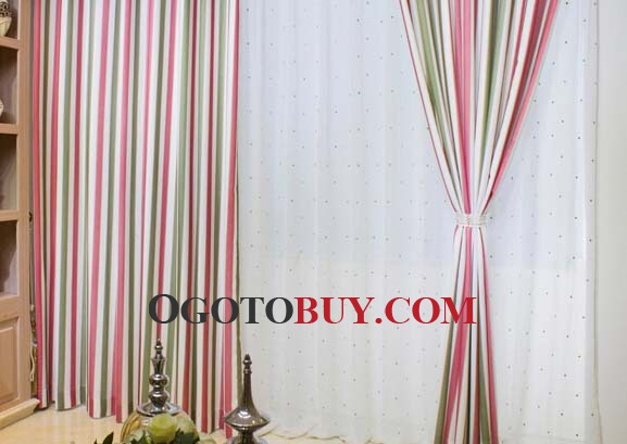 Colored Stripes Striped Curtains Colorful