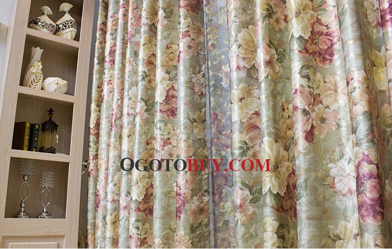 Country Floral Vintage Curtains Ideas of Polyester , Buy Multi ...