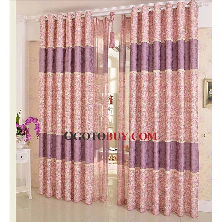 Living Room Floral Custom Curtains Online Loading Zoom