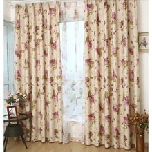 Flower and Leaf Pattern Country Clearance Curtains