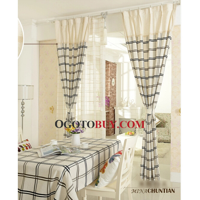 Plaid DiningRoom Curtains