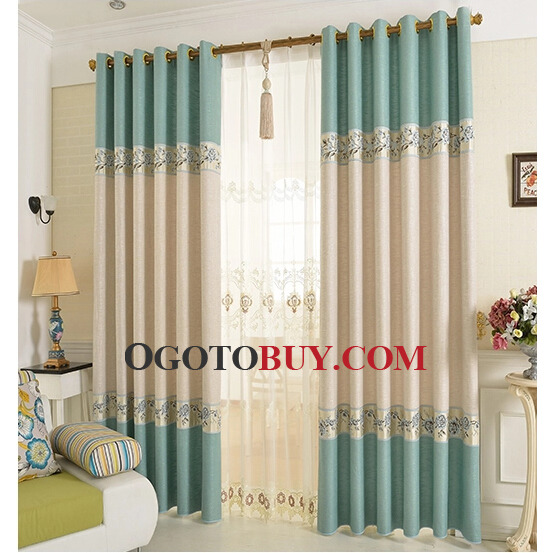 embroidery door panel curtains loading zoom