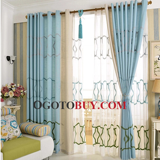 Curtains Ideas cheap curtains for sale : Contemporary Geometric Pattern Cute Buy Curtains, Buy Blue privacy ...