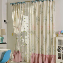 Country Curtains Sale Made of Linen and Cotton for Kids
