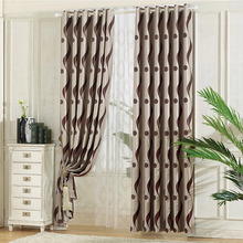 Lines Pattern Home Shabby Chic Window Curtains