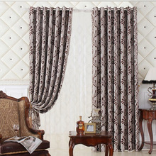 Custom Made Jacquard High-end Cheap Living Room Curtains