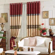 Eco-friendly Material Good Quality Cheap Red Curtains