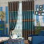 Best Home Fashion Curtains in Blue Made of Polyester