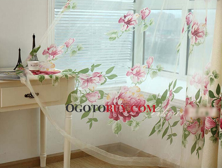 European Bedroom Jacquard Window Curtains Drapes