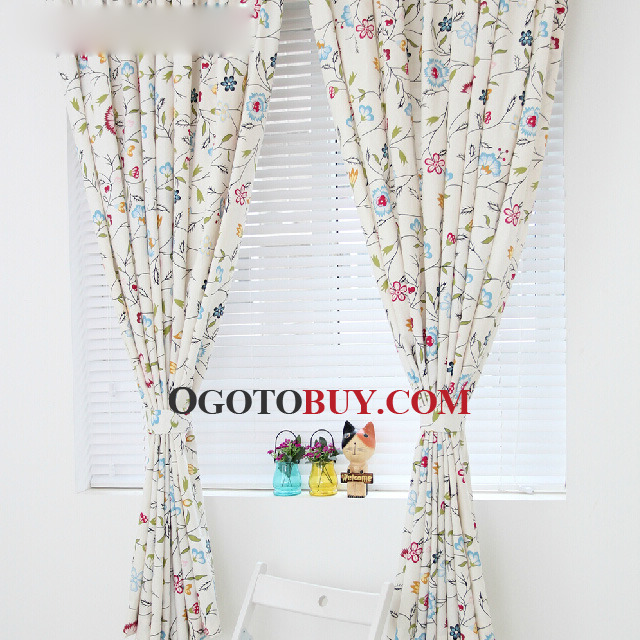 Loading Zoom. Cute Simple Custom Made Home Floral Bedroom Curtains ...