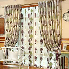 Modern Contemporary Curtains with Nature Patterns for Home