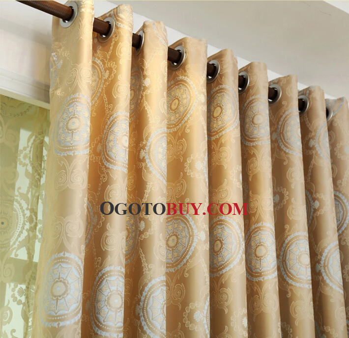 Good Quality Curtains for Blackout in Champagne Color