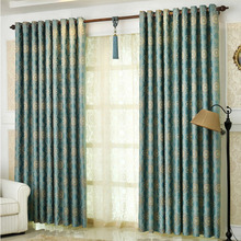 Contemporary Curtains And Window Treatments in Blue Color