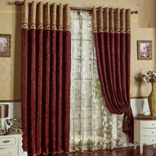 Well Made Chenille Material Great Room Curtains